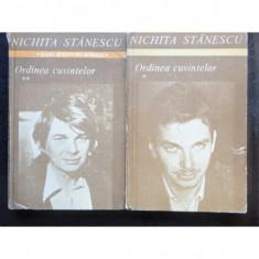 ORDINEA CUVINTELOR - NICHITA STANESCU 2 VOLUME - Carte poezie