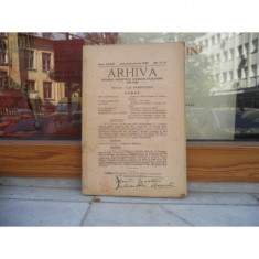 ARHIVA ORGANUL SOCIETATII ISTORICO - FILOLOGICE DIN IASI , NR 3-4 , ILIE BARBULESCU