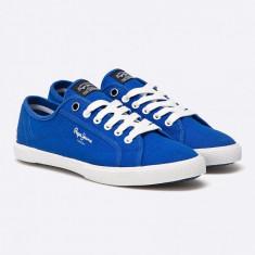 Tenisi Adidasi Pepe Jeans London Originali la cutie IN STOC ! - Tenisi barbati Pepe Jeans, Marime: 42, Culoare: Albastru, Textil