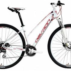 Bicicleta Devron Riddle Lady LH1.9 S 420/16.5 Crimson WhitePB Cod:216RL194292 - Mountain Bike Devron, Alb