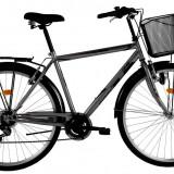 Bicicleta DHS Citadinne 2833 (2016) Culoare Negru 520mmPB Cod:21628335260 - Bicicleta de oras DHS, 13 inch, Otel