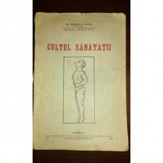 CULTUL SANATATII, DR. EMANUIL ANCA - Carte Proverbe si maxime
