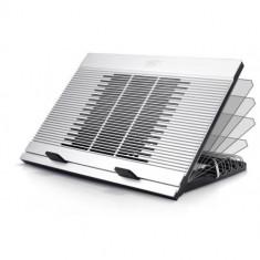 Stand notebook DeepCool 17' - aluminiu & plastic, fan, 4* USB, dimensiuni 380X279X34mm, dimensiuni F - Masa Laptop