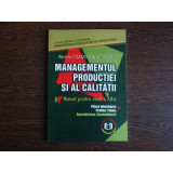 Managementul producativitatii si al calitatii Manual pentru clasa a XII-a, Marieta Olaru, Adrian Tantau