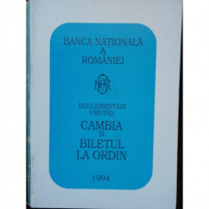 REGLEMENTARI PRIVIND CAMBIA SI BILETUL LA ORDIN