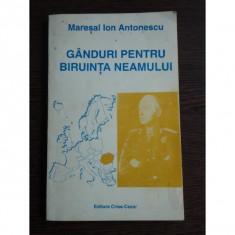 GANDURI PENTRU BIRUINTA NEAMULUI - ION ANTONESCU - Istorie