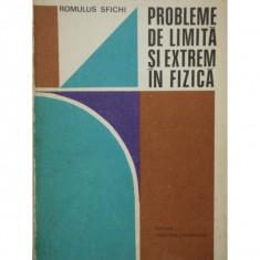 PROBLEME DE LIMITA SI EXTREM IN FIZICA - ROMULUS SFICHI