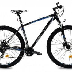 Bicicleta DHS Terrana 2925 (2016) Culoare Negru/Gri/Albastru 457mmPB Cod:21629254563 - Mountain Bike DHS, 18 inch