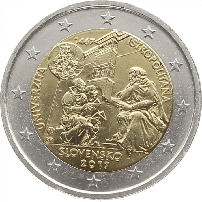 NOU - Slovacia moneda 2 euro 2017 - Universitatea Istropolitana  - UNC foto mare