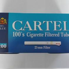 Tuburi  tigari  Cartel Super Long ( 100 mm) pentru injectat tutun
