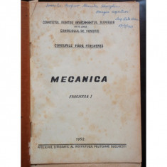 MECANICA - FASCICOLUL I