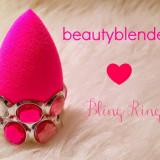 Buretel cosmetic + inel - Aplicare Fond de ten si Concealer Beauty Blender