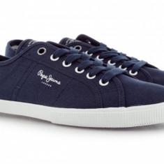 Tenisi Adidasi Pepe Jeans London Originali la cutie IN STOC ! - Adidasi barbati Pepe Jeans, Marime: 44, Culoare: Bleumarin, Textil