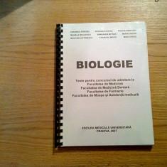 BIOLOGIE * Teste pentru Concursul de Aamitere la Facultatea de Medicina - 2007 - Teste admitere facultate