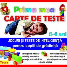 Prima mea carte de teste - pentru copiii de gradinita 3-4 ani - Carte educativa, Teora