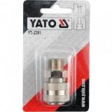 """Mufa rapida pentru pistol pneumatic 3/8, cu filet exterior Yato YT-2391, mama"""""""