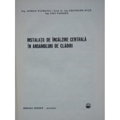 INSTALATII DE INCALZIRE CENTRALA IN CLADIRI foto