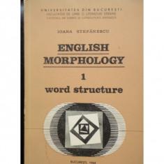 ENGLISH MORPHOLOGY - IOANA STEFANESCU - Carte dezvoltare personala