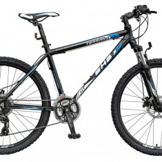 Bicicleta DHS Terrana 2627 Negru/Albastru – 457mmPB Cod:21526274563 - Mountain Bike DHS, 18 inch