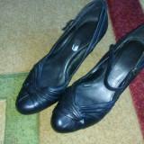 Pantofi negri - Pantof dama, Culoare: Negru, Marime: 38