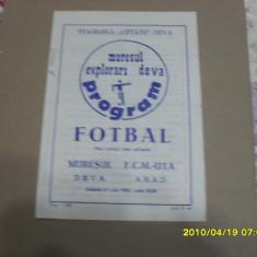 Program Muresul Deva - UTA - Program meci