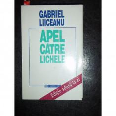 APEL CATRE LICHELE - GABRIEL LIICEANU - Filosofie