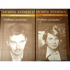 ORDINEA CUVINTELOR, NICHITA STANESCU, DOUA VOLUME - Carte poezie