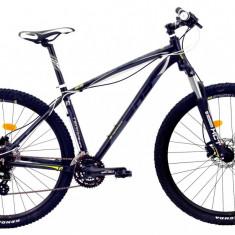 Bicicleta DHS Terrana 2927 (2016) Culoare Negru/Gri/Argintiu 457mmPB Cod:21629274569 - Mountain Bike DHS, 18 inch