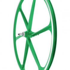 Roata Fata Fixa AeroWheels 700 VerdePB Cod:40704VARM - Piesa bicicleta