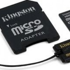 Kingston Card de Memorie microSDHC 16GB Class4 + Card Reader MBLY4G2/16GB - Card memorie