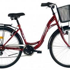 Bicicleta DHS Citadinne 2634 (2016) Culoare Visiniu/Alb/Negru 480mmPB Cod:21626344849 - Bicicleta de oras DHS, 12 inch, Otel