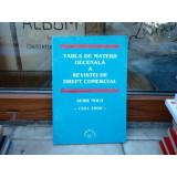 TABLA DE MATERII DECENALA A REVISTEI DREPT COMERCIAL SERIE NOUA 1991-2000 , Cursuri