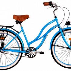 Bicicleta DHS Cruiser 2698 (2016) Culoare Albastru 500mmPB Cod:21626985030 - Bicicleta de oras