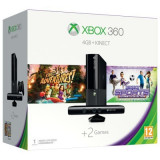 Consola Xbox 360 Microsoft 4GB + Kinect Sensor + 2 jocuri ( Kinect Adventures, Kinect Sport Ultimate Colection) + 1 luna Xbox Live Gold