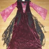 Costum carnaval serbare vrajitoare pentru copii de 10-11-12 ani marime L - Costum Halloween, Marime: Masura unica, Culoare: Din imagine