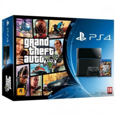 Consola PlayStation 4 Sony Black + Grand Theft Auto V