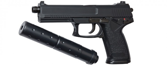 ASG MK23 SOCOM arma airsoft pusca pistol aer comprimat sniper shotgun foto mare