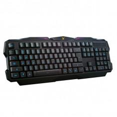 KEYBOARD US OMEGA OK-326 VARR VK-1 GAMING M-MEDIA ILLUM. BLACK USB - Tastatura PC Omega, Cu fir