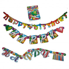 Banner decorativ pentru petrecere Happy Birthday - 1.6 m, Radar OT62/0932