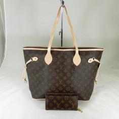 Set dama geanta si portofel Louis Vuitton+CADOU - Geanta Dama, Culoare: Din imagine, Marime: Mare