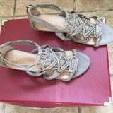 Sandale împletite piele bej NINE WEST - Sandale barbati