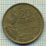 9127 MONEDA- FRANTA - 20 FRANCS -anul 1952 - starea ce se vede, Europa