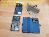 Husa piele ecologica tip carte Allview P9 Energy Mini bleumarin si negru, Alt model telefon Allview