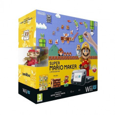 Consola Nintendo Wii U Premium + Super Mario Maker + figurina