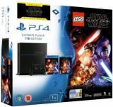 Consola PlayStation 4, 1 TB + joc Lego Star Wars Force Awakens + film Star Wars Force Awakens BluRay