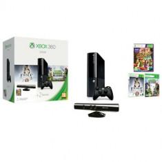Consola XBOX 360 500GB + Kinect Sensor + 3 jocuri (Fable Anniversary, Plants vs. Zombies-cod dowload, Kinect Adventures) + 1 luna Xbox Live