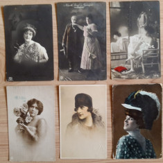 Carte postala femeie , vechi, anii 1900 RARITATE !