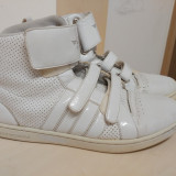 High Tops + pantofi casual velur - Tenisi barbati, Marime: 41, Culoare: Alb