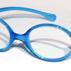 Rama ochelari copii albastra din silicon, Unisex, Colorate, Ovale, Plastic, Rama intreaga