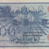 GERMANIA 100 marci 1908 VF+++!!! - bancnota europa